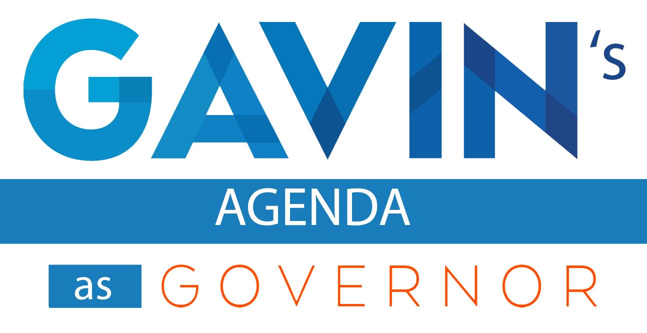 Gobernador Gavin Newsom
